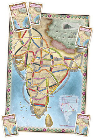 Ticket to Ride India / Zwitserland